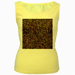 A Complex Maze Generated Pattern Women s Yellow Tank Top by Amaryn4rt