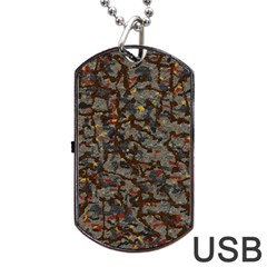 A Complex Maze Generated Pattern Dog Tag Usb Flash (two Sides) by Amaryn4rt