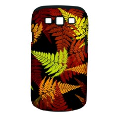 3d Red Abstract Fern Leaf Pattern Samsung Galaxy S Iii Classic Hardshell Case (pc+silicone) by Amaryn4rt