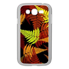 3d Red Abstract Fern Leaf Pattern Samsung Galaxy Grand Duos I9082 Case (white) by Amaryn4rt