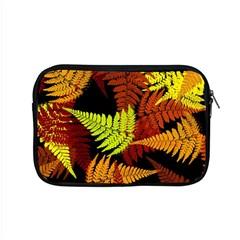 3d Red Abstract Fern Leaf Pattern Apple Macbook Pro 15  Zipper Case by Amaryn4rt