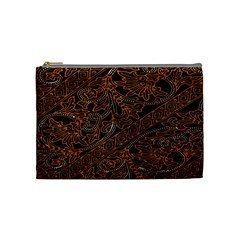 Art Traditional Indonesian Batik Pattern Cosmetic Bag (medium)  by Amaryn4rt