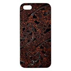 Art Traditional Indonesian Batik Pattern Apple Iphone 5 Premium Hardshell Case by Amaryn4rt