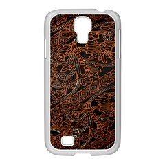 Art Traditional Indonesian Batik Pattern Samsung GALAXY S4 I9500/ I9505 Case (White)