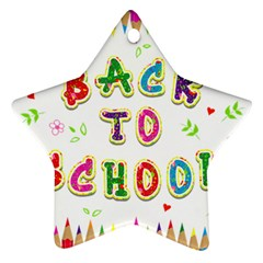 Back To School Ornament (star)