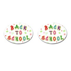 Back To School Cufflinks (oval) by Amaryn4rt