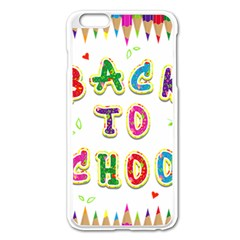 Back To School Apple Iphone 6 Plus/6s Plus Enamel White Case by Amaryn4rt