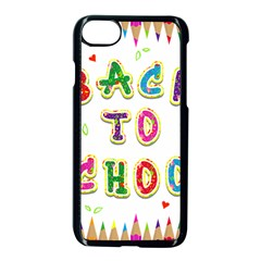 Back To School Apple Iphone 7 Seamless Case (black) by Amaryn4rt