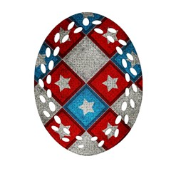 Atar Color Oval Filigree Ornament (two Sides) by Amaryn4rt