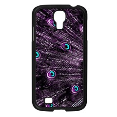 Bird Color Purple Passion Peacock Beautiful Samsung Galaxy S4 I9500/ I9505 Case (black) by Amaryn4rt