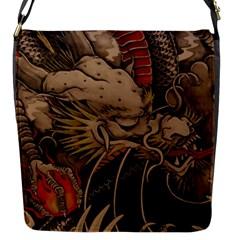Chinese Dragon Flap Messenger Bag (s)