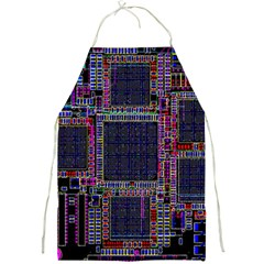 Technology Circuit Board Layout Pattern Full Print Aprons by Amaryn4rt