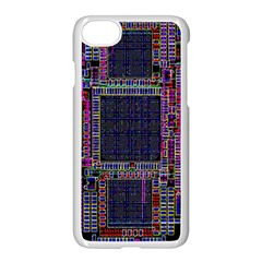 Technology Circuit Board Layout Pattern Apple Iphone 7 Seamless Case (white) by Amaryn4rt