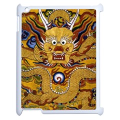 Chinese Dragon Pattern Apple Ipad 2 Case (white) by Amaryn4rt