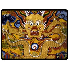 Chinese Dragon Pattern Double Sided Fleece Blanket (large)  by Amaryn4rt