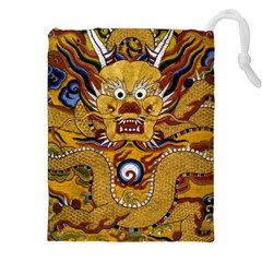 Chinese Dragon Pattern Drawstring Pouches (XXL) by Amaryn4rt