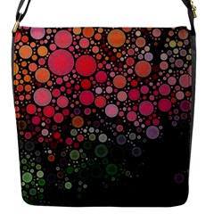Circle Abstract Flap Messenger Bag (s) by Amaryn4rt