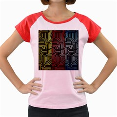 Circuit Board Seamless Patterns Set Women s Cap Sleeve T Shirt by Amaryn4rt