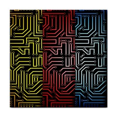 Circuit Board Seamless Patterns Set Face Towel by Amaryn4rt