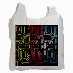 Circuit Board Seamless Patterns Set Recycle Bag (one Side) by Amaryn4rt