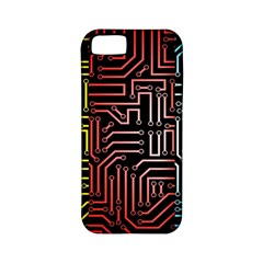 Circuit Board Seamless Patterns Set Apple Iphone 5 Classic Hardshell Case (pc+silicone)