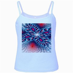 Creative Abstract Baby Blue Spaghetti Tank by Amaryn4rt