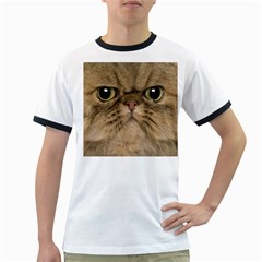 Cute Persian Cat Face In Closeup Ringer T Shirts by Amaryn4rt