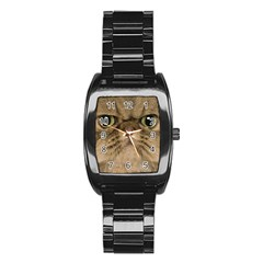 Cute Persian Cat Face In Closeup Stainless Steel Barrel Watch by Amaryn4rt