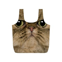 Cute Persian Cat Face In Closeup Full Print Recycle Bags (s)  by Amaryn4rt