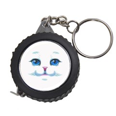 Cute White Cat Blue Eyes Face Measuring Tapes by Amaryn4rt