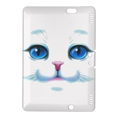 Cute White Cat Blue Eyes Face Kindle Fire Hdx 8 9  Hardshell Case by Amaryn4rt