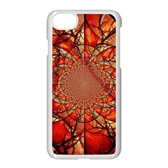 Dreamcatcher Stained Glass Apple Iphone 7 Seamless Case (white) by Amaryn4rt
