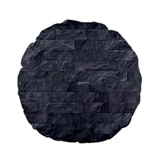 Excellent Seamless Slate Stone Floor Texture Standard 15  Premium Flano Round Cushions by Amaryn4rt