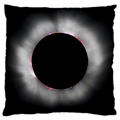 Solar Eclipse Large Cushion Case (two Sides) by Amaryn4rt