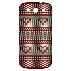 Stitched Seamless Pattern With Silhouette Of Heart Samsung Galaxy S3 S Iii Classic Hardshell Back Case by Amaryn4rt