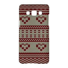 Stitched Seamless Pattern With Silhouette Of Heart Samsung Galaxy A5 Hardshell Case  by Amaryn4rt