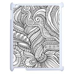 Zentangle Art Patterns Apple Ipad 2 Case (white) by Amaryn4rt