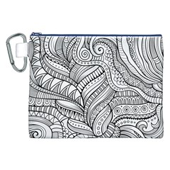 Zentangle Art Patterns Canvas Cosmetic Bag (xxl) by Amaryn4rt