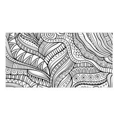 Zentangle Art Patterns Satin Shawl