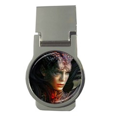 Digital Fantasy Girl Art Money Clips (round)  by Onesevenart