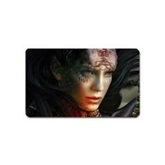 Digital Fantasy Girl Art Magnet (name Card) by Onesevenart