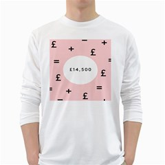 Added Less Equal With Pink White White Long Sleeve T Shirts by Alisyart