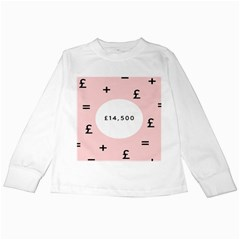 Added Less Equal With Pink White Kids Long Sleeve T Shirts by Alisyart