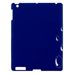 Bubbles Circle Blue Apple Ipad 3/4 Hardshell Case by Alisyart