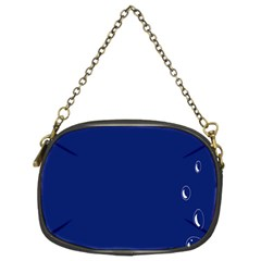 Bubbles Circle Blue Chain Purses (two Sides)  by Alisyart