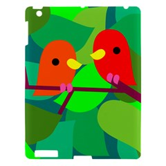 Animals Birds Red Orange Green Leaf Tree Apple Ipad 3/4 Hardshell Case by Alisyart