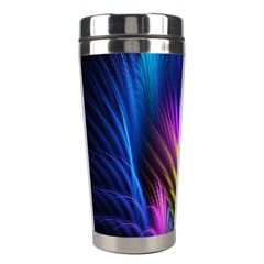 Bird Feathers Rainbow Color Pink Purple Blue Orange Gold Stainless Steel Travel Tumblers by Alisyart