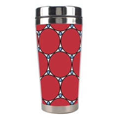 Circle Red Purple Stainless Steel Travel Tumblers by Alisyart
