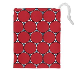 Circle Red Purple Drawstring Pouches (xxl) by Alisyart