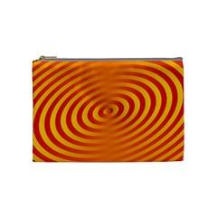 Circle Line Orange Hole Hypnotism Cosmetic Bag (medium)  by Alisyart